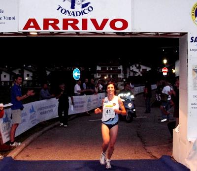 Arrivo di Rungger Renate al Trofeo San Vittore 2007