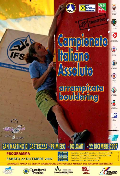 Campionato Italiano Assoluto Arrampicata Bouldering