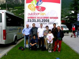 Ragazzi e accompagnatori a Riva del Garda