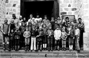 Scalet Gian Paolo (primo da sinistra) in una foto degli anni 70.