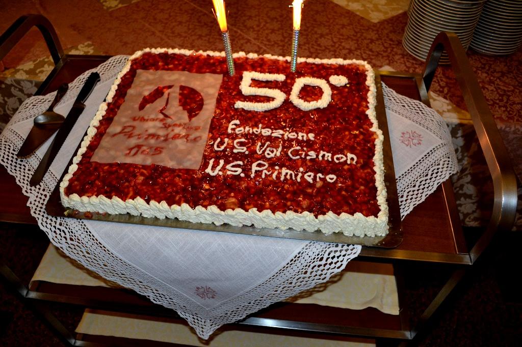 Torta del 50° di Fondazione dell'USPrimiero