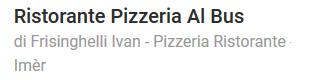 Pizzeria Al Bus