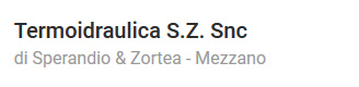 Termoidraulica S.Z. Snc